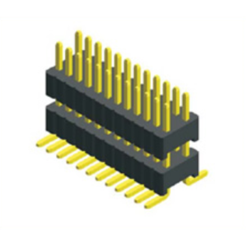 Leading for 1.27Mm Male Header Pins 1.27X2.54mm Pitch Dual Row Double Plastic SMT supply to Nigeria Exporter