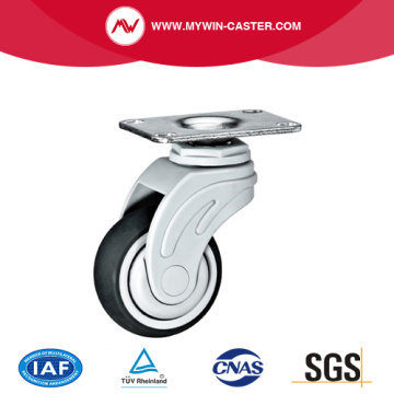 Plate Swivel TPR Medical Caster