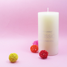 wax Ivory pillar candle