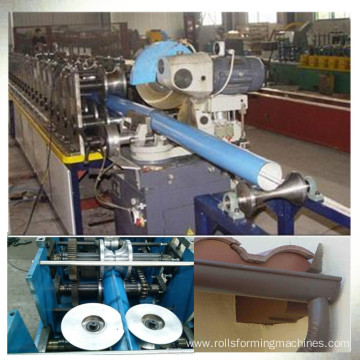 Steel downspout roll forming making machine