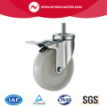 3'' Thread Stem Swivel Industrial PP Caster With Brake