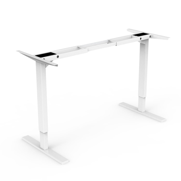 Dual Motorized Metal Frame Computer Sit Stand Desk