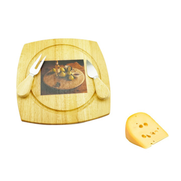 cheese wood cheese board set