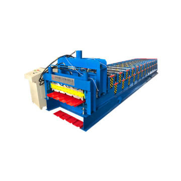 Double layer metal roofing panel roll forming machine