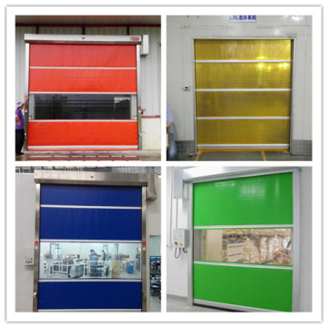 Clean Room PVC Fabric Fast Rolling Industry Door