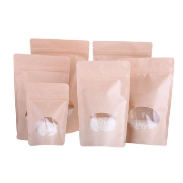 zipper paper Stand Up bag with window compostable Supplier In China