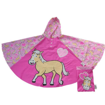Factory selling for PVC Poncho Printed Lightweight Kids Rain Poncho export to Belize Importers