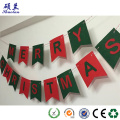 Customized design felt christmas flag decoration