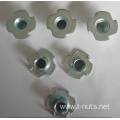 Zinc plated Carbon steel Furniture Tee nuts