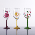 Featured Decal Red Wine Glass Of High White Crystal Glass Material