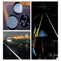 Light reflective Glass Beads Road