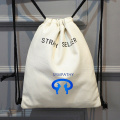 Custom drawstring bag is carrying the bag