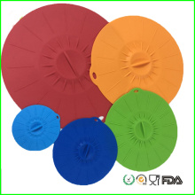 Colorful BPA Free Silicone Vacuum Seal Lids Set