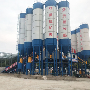 Myanmar stationary type advanced concrete batching plant