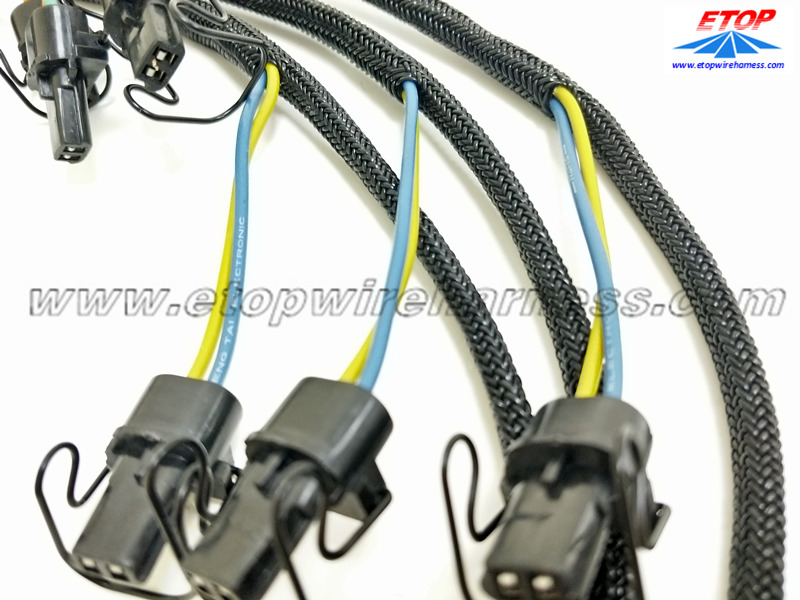 custom braiding shield automotive wire assembly