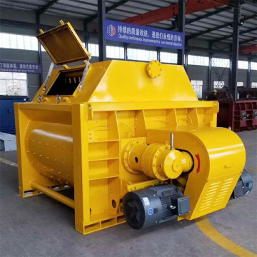 Double shaft mixer machine price with hydraulic hopper