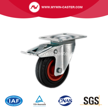 4'' Plate Swivel Rubber PP core With brake Caster