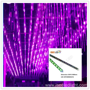 DMX meteor tube starfall 3D disco light