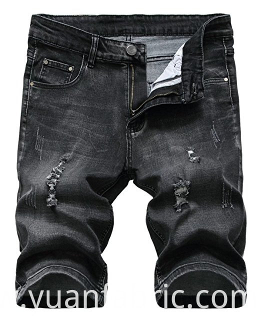 518men S Ripped Denim Shorts