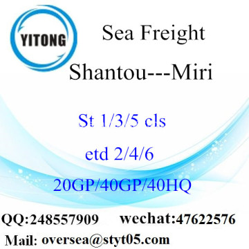 Shantou Port Sea Freight Shipping To Miri