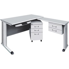 L Shape Metal Office Desk