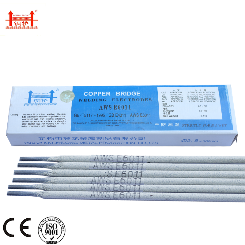 Manufacturing Plant 6011 E6010 Welding Electrodes