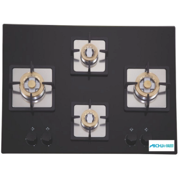 Elica Black Glass 4 Burner Built-in Hob