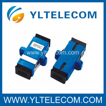 20dB SC Optical Fiber Attenuator , SC Singlemode attenuator 15dB
