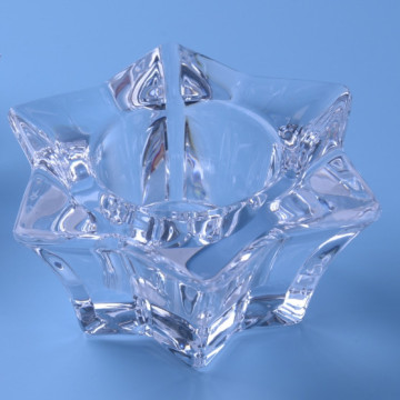 Glass Star Tealight Candle Holder