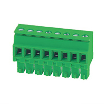 Plug-in Terminal Block Hook on back side Pitch:3.5/3.81