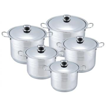 Hot sale 10pcs stainless steel stock pot