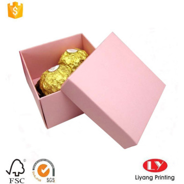 Foldable art paper chocolate gift packaging box