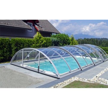 Telescopic Enclosures Polycarbonate Swimming Pool Cover