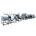 Brown Eggs Boiling Cooling and Peeling Machines Line