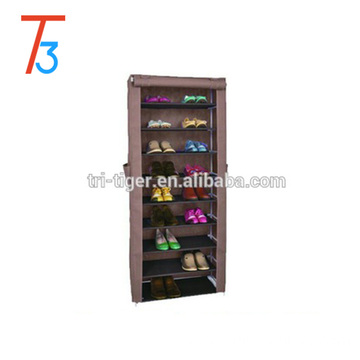9 tier fabric shoe storage shelves with side pocket
