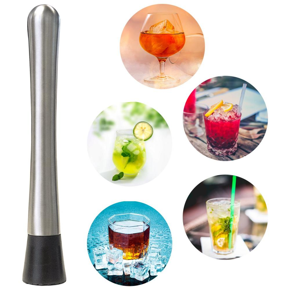 Bar Tool Stainless Steel Cocktail Muddler crushed  hammer