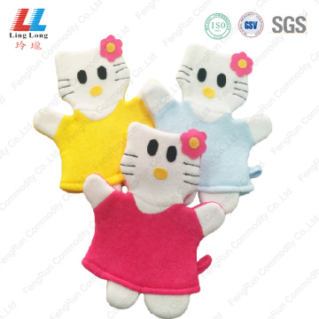 Variety cat style shinning bath gloves