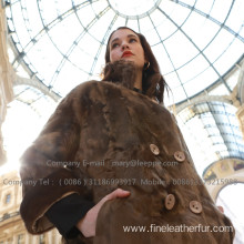 Mink Fur Coat In Winter For Lady