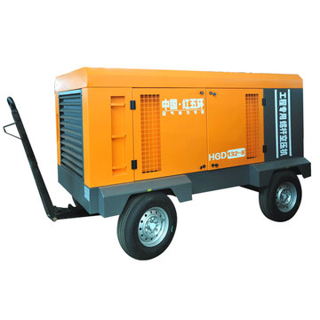 HGD132-8D 132kw motor mobile screw air compressor