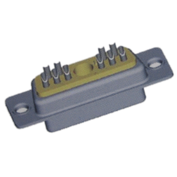11W1 Female Coaxial D-Sub Connectors Vertical Solder
