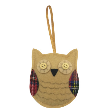 Christmas hanging ornaments with cute owl pattern