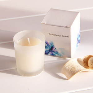Scented candles in frosted holder with gift box