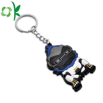 Custom Embossed 3D Soft PVC Cool/Fashion Silicone Keychain