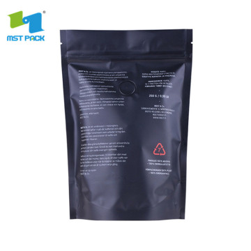 Stand up Custom Plastic Bags with zipper for dry food/coffee
