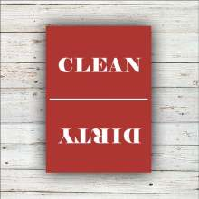 Kitchen chore clean dirty dishwasher magnet reversible
