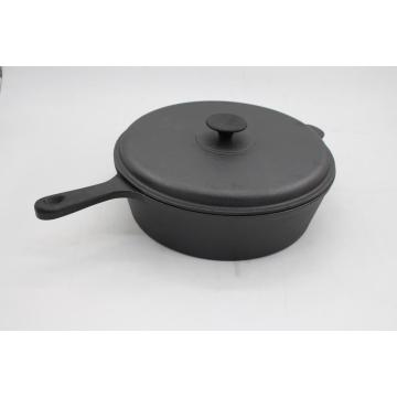 Cast iron pre-seasoned casserole