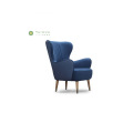 Living Room Blue Fabric Sofa Chair