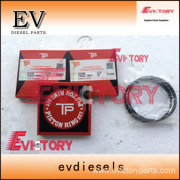 ISUZU engine parts piston 3KC1 piston ring