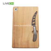 Wood Cheese Board with Cheese Knife