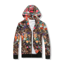 Women sublimation printed spring season fleece hoodies